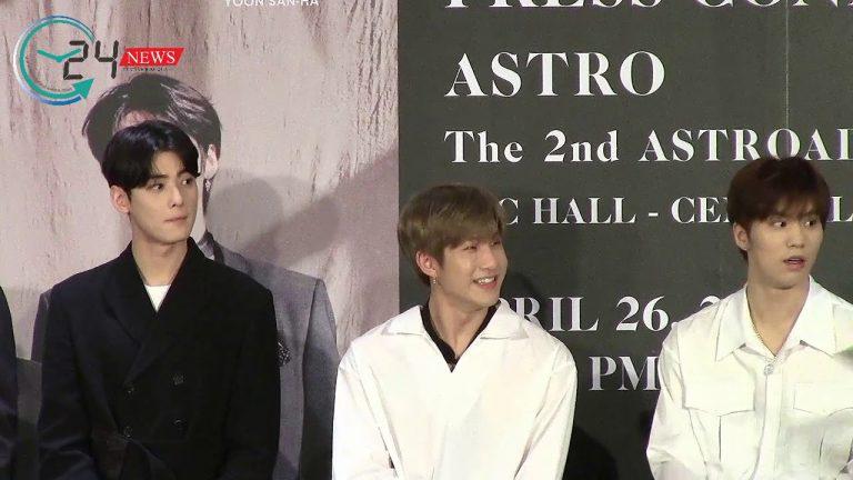 """6 หนุ่ม Astro แถลงข่าว อ้อนแฟนๆ """"ก็มาดิค้าบ!"""" พรุ่งนี้มาเจอกันที่งาน ASTRO The 2nd ASTROAD to BANGKOK [STARLIGHT]"""